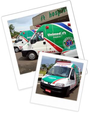 Ambulâncias da SOS Unimed Medilar