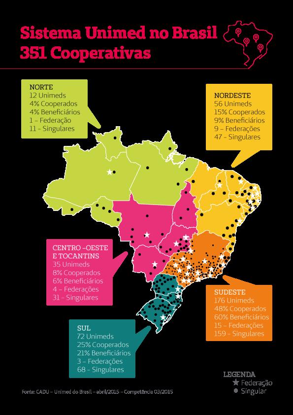 Mapa Unimed Brasil